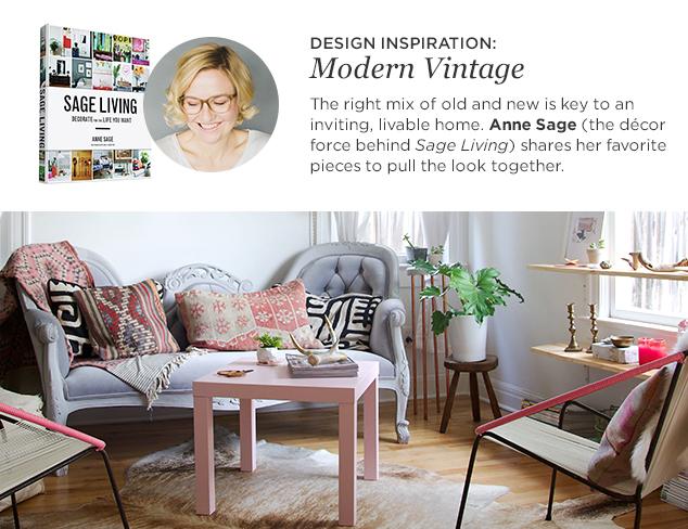 Design Inspiration Anne Sage's Modern Vintage Style at MYHABIT