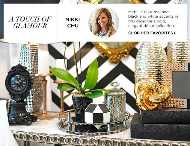 A Touch of Glamour Nikki Chu Décor at MYHABIT
