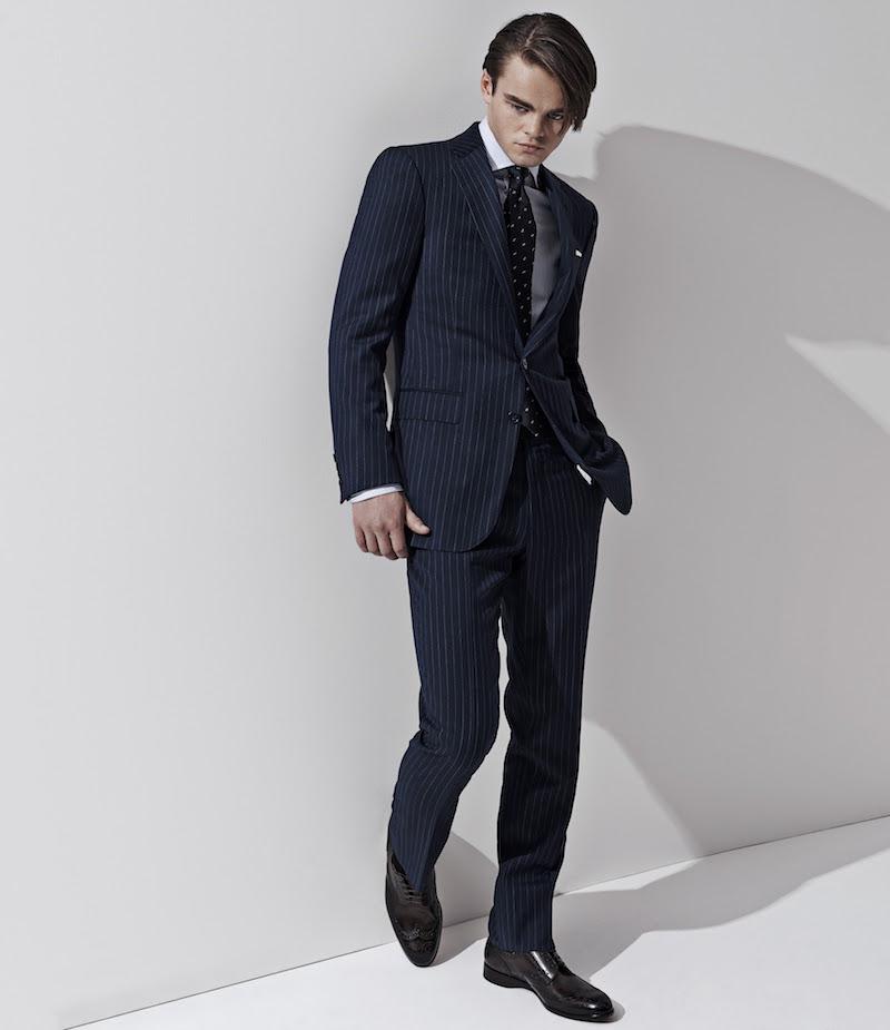 Ralph Lauren Purple Label Pinstriped Anthony Two-Button Suit