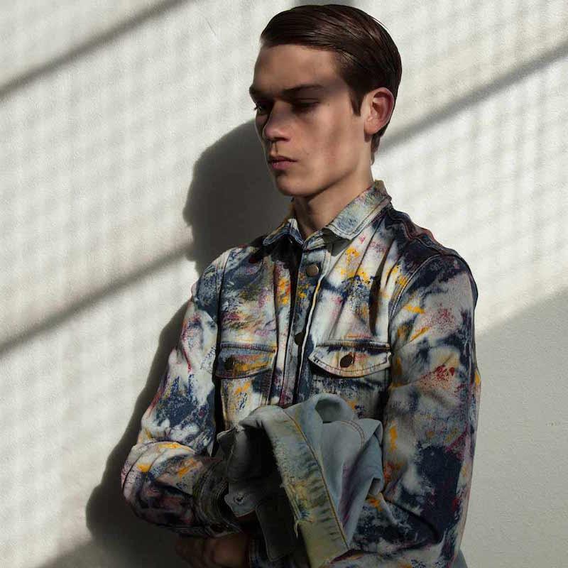 James Long Tie-Dye Painted Denim Shirt