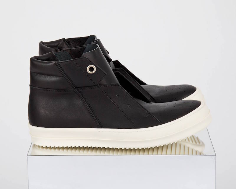 Rick Owens Island Dunk Pull On Leather Sneakers