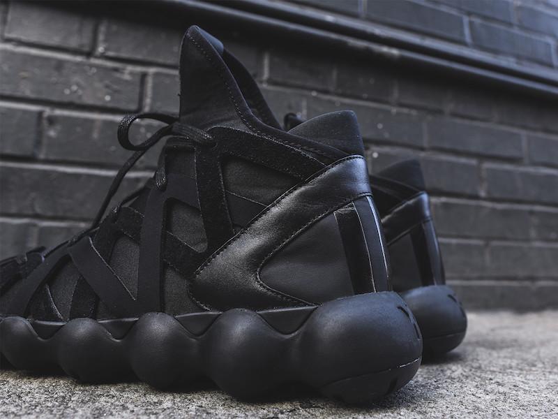 Y-3 Yohji Yamamoto Kyujo High Sneakers in Triple Black_6