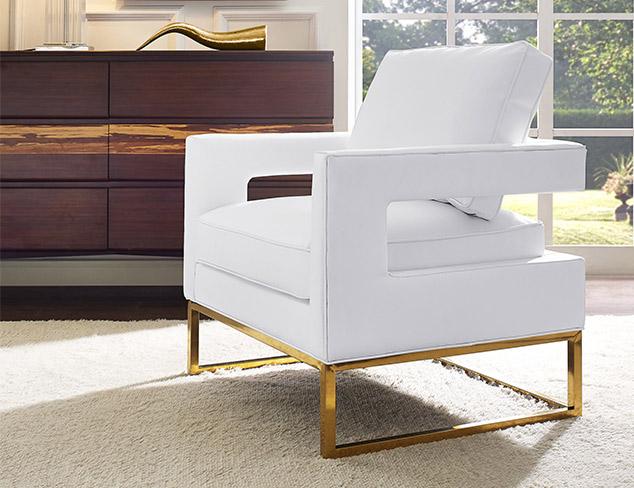 Geometric & Metallic Modern Furniture at MyHabit