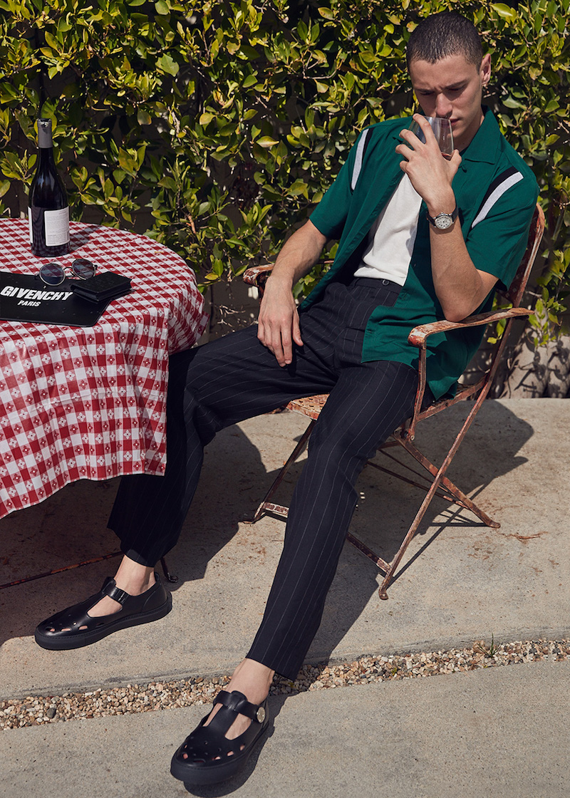 Lanvin Open Collar Short Sleeve Shirt