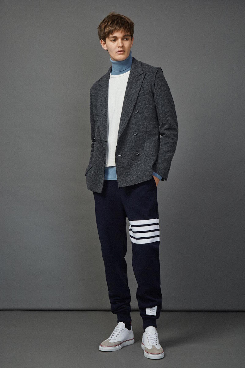 Thom Browne 4 Bar Jersey Track Pants