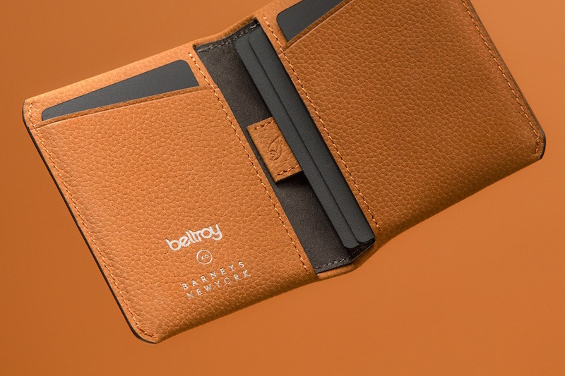 Bellroy XO Barneys New York Slim Sleeve Folding Card Case Tan