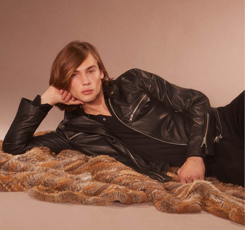 Cifonelli Leather Zip Front Jacket