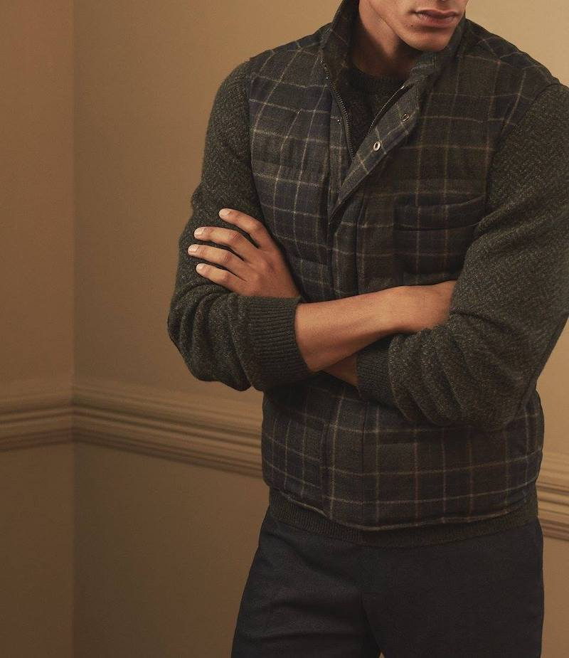ISAIA Plaid Quilted Vest