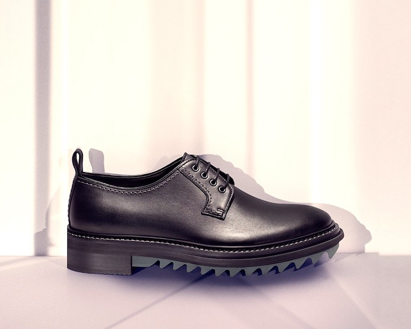 Lanvin Tread Sole Leather Derby Shoes