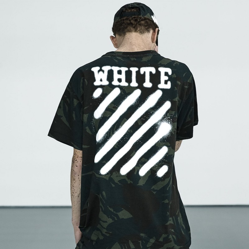 Off-White Logo and Camouflage-Print Jersey T-Shirt