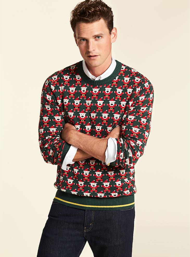 Alex Stevens 8 Bit Santa Ugly Christmas Sweater
