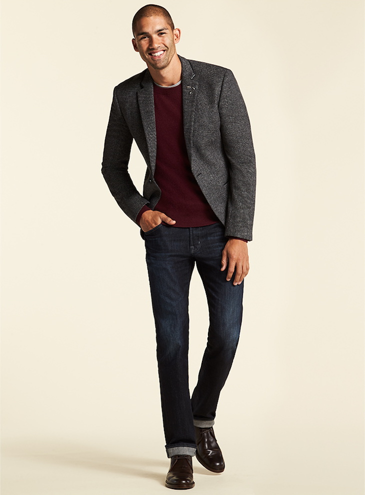 Calvin Klein Two Button Donegal Sportcoat