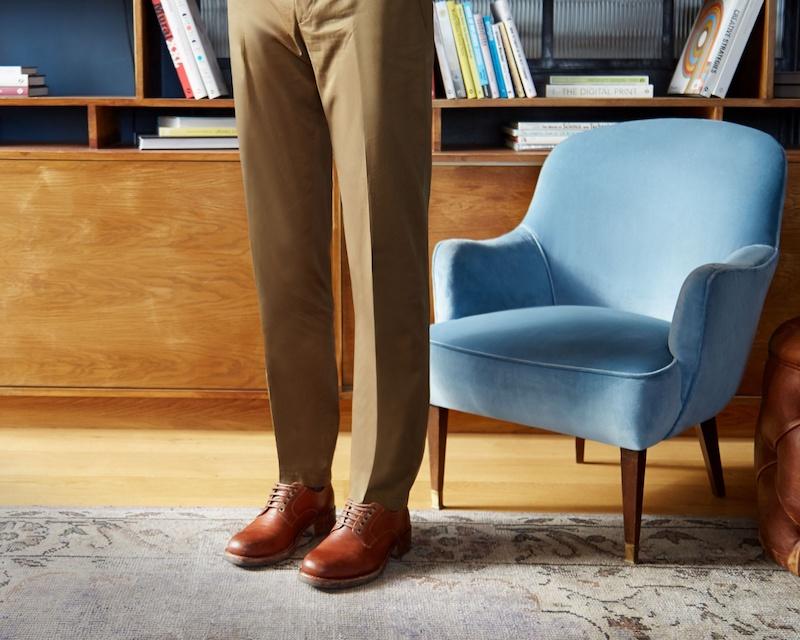Maison Margiela Tarnished Lace-Up Leather Derby Shoes