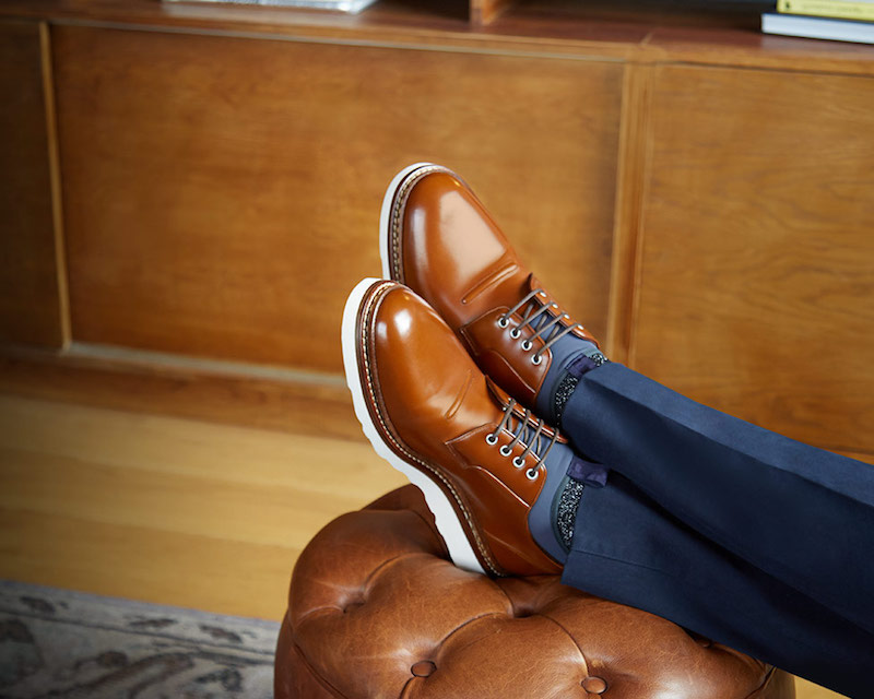 OAMC Leather And Neoprene Compression Derby Shoes