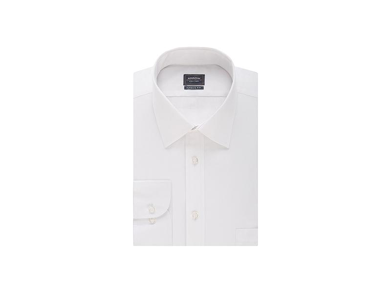 Arrow Poplin Regular-Fit Solid Spread Collar Dress Shirt