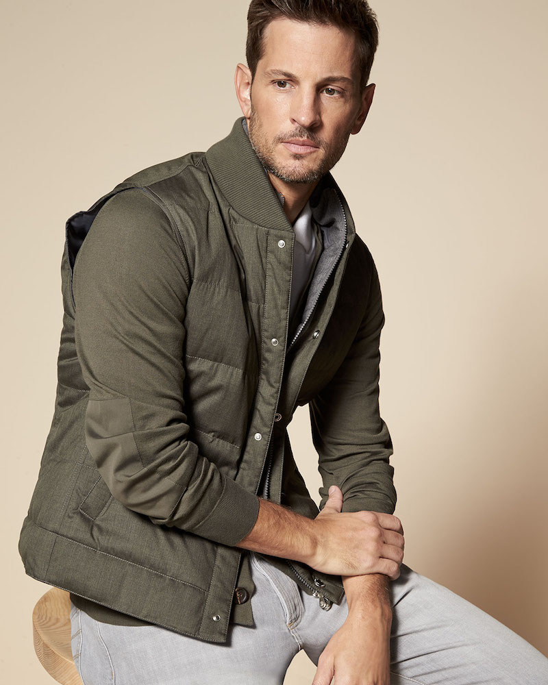 Brunello Cucinelli Quilted Down Vest with Zip-Out Sleeves