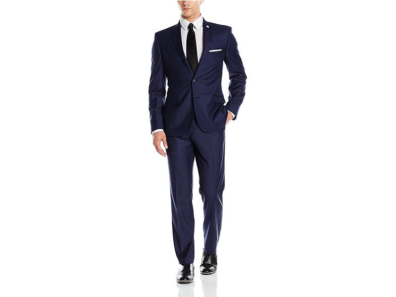 Nick Graham Two Button Slim Fit Peak Lapel Suit