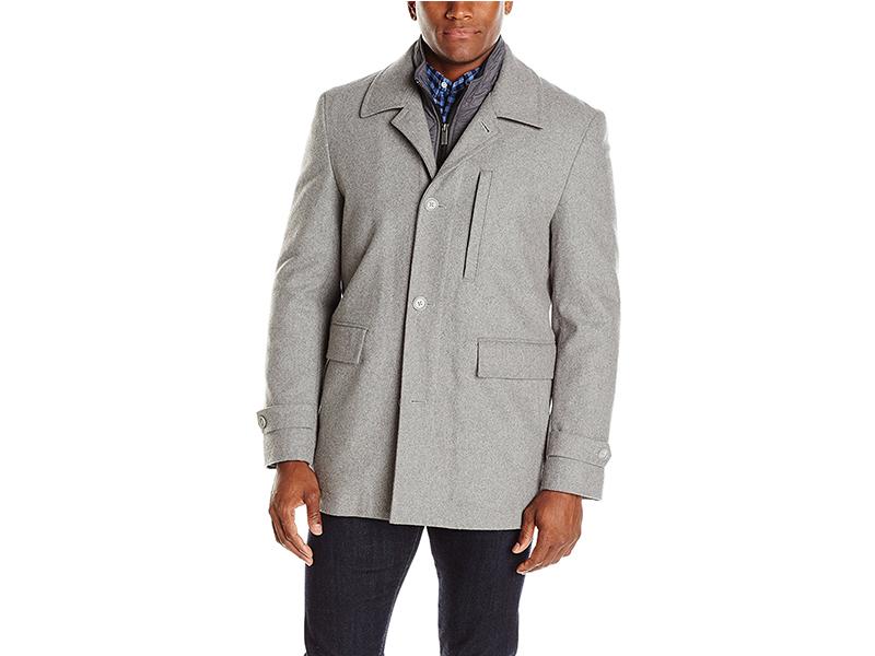 Nick Graham Upper West Side Wool Bib Front Car Coat