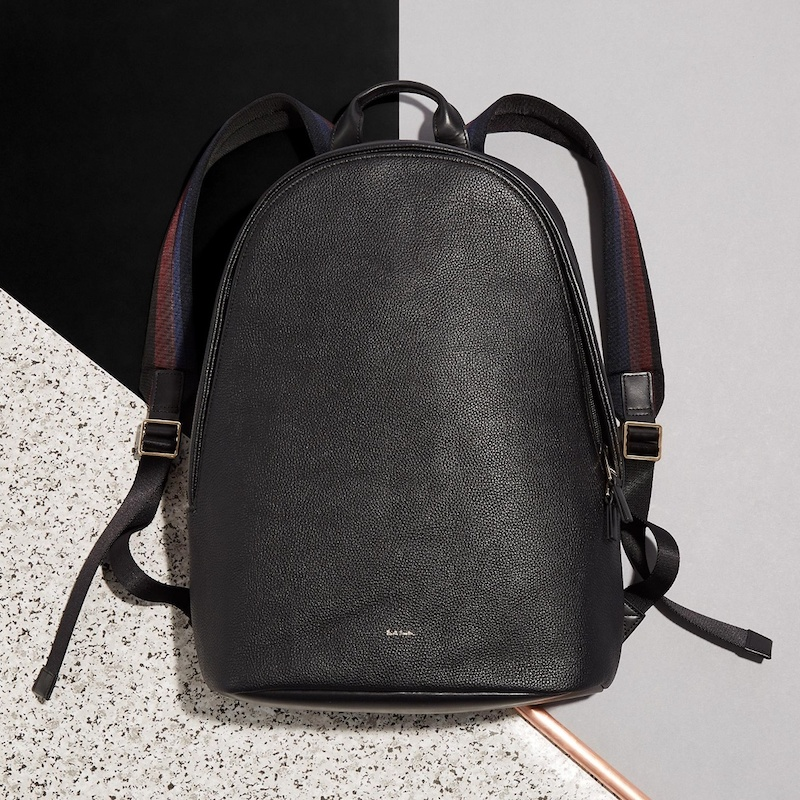 Paul Smith City Pebbled-Leather Backpack