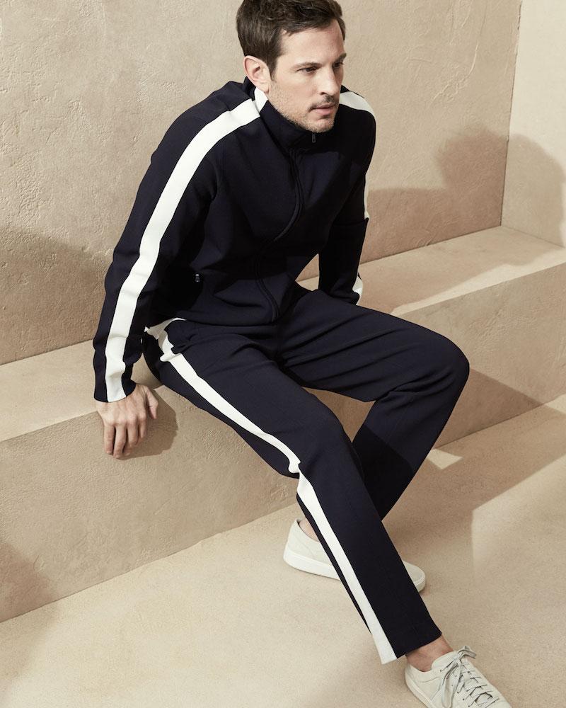 Vince Side-Stripe Knit Track Jacket