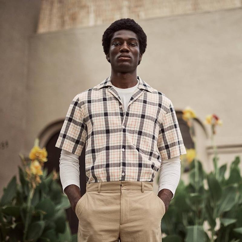 Acne Studios Elm Short-Sleeved Checked Cotton Shirt