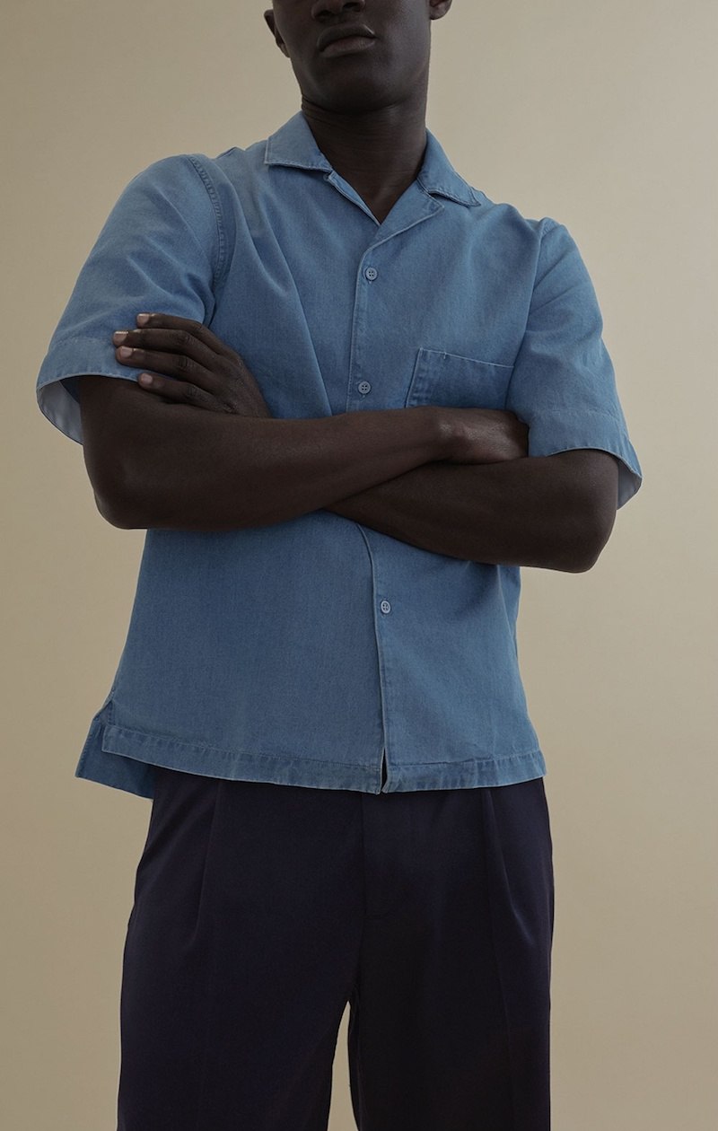 Acne Studios Elm Short-Sleeved Denim Shirt