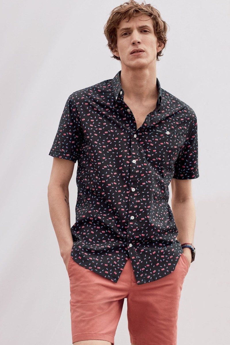 RVCA Party All the Time Print Woven Shirt