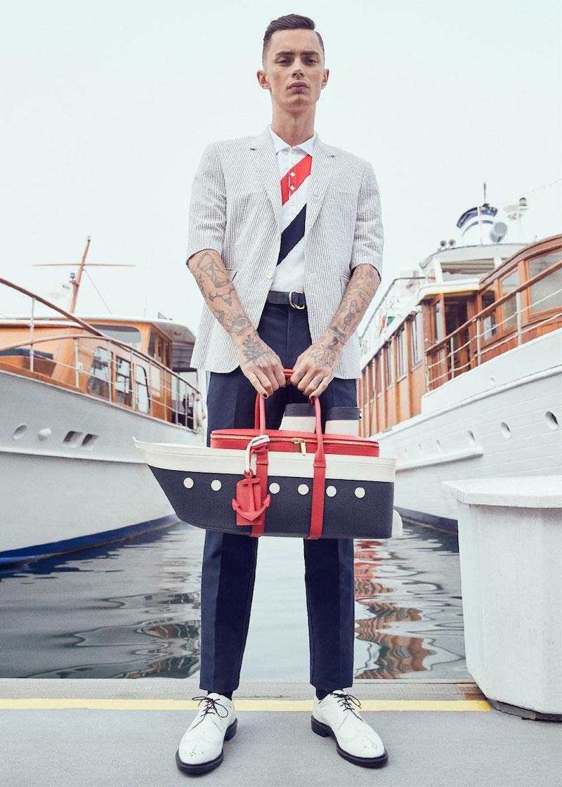 Thom Browne Short Sleeve Seersucker Blazer