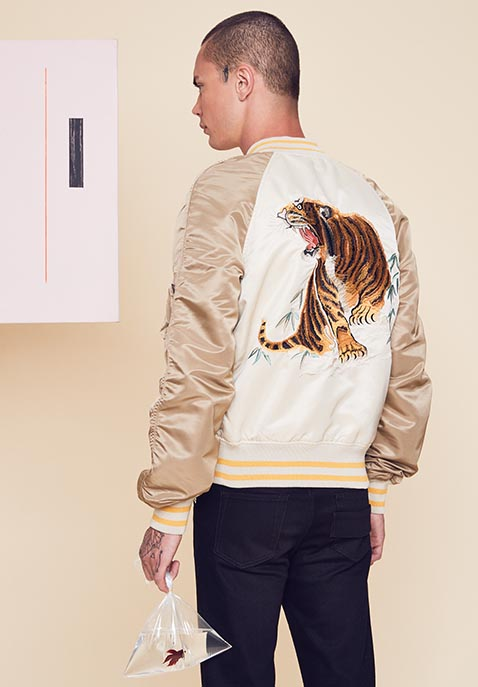 ALPHA INDUSTRIES Tiger Souvenir Jacket