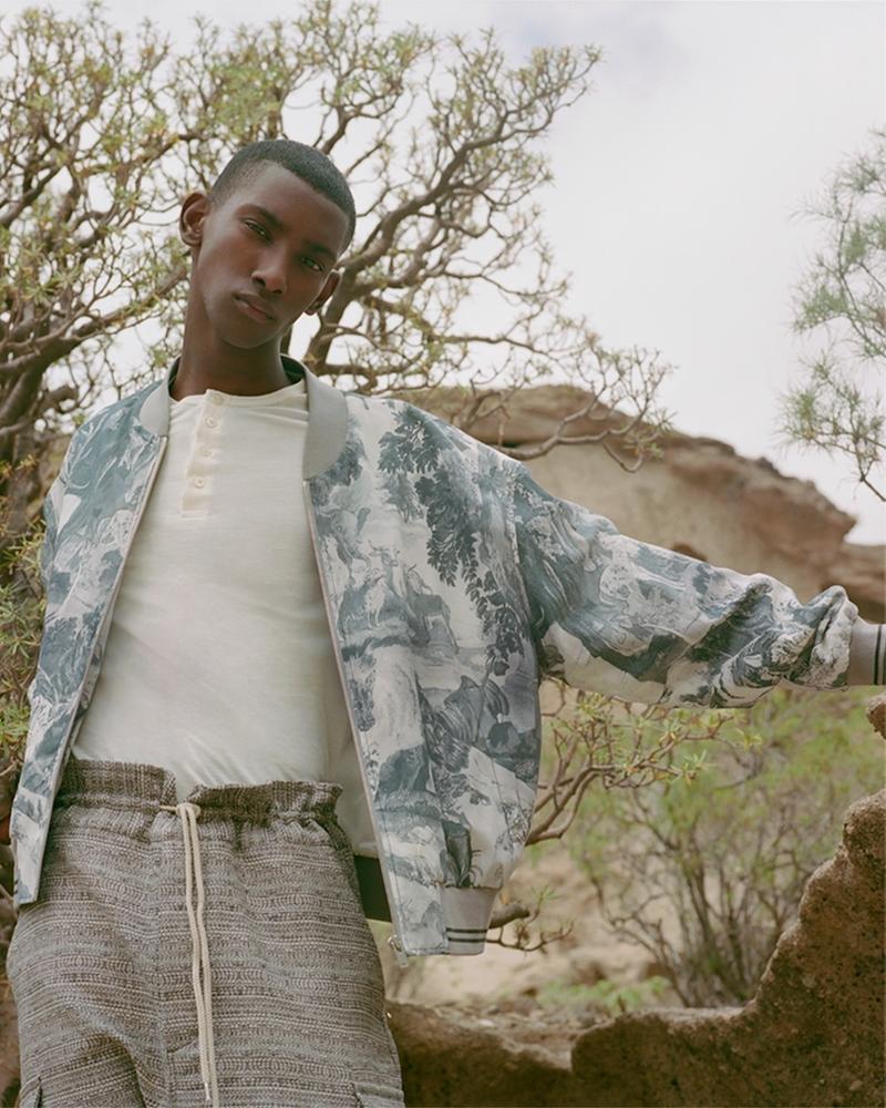 Maison Margiela Jungle-Print Silk And Cotton-Blend Bomber Jacket