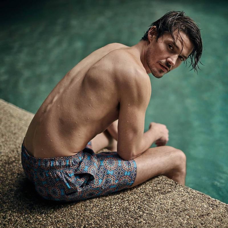 Retromarine Mechanisms-Print Swim Shorts