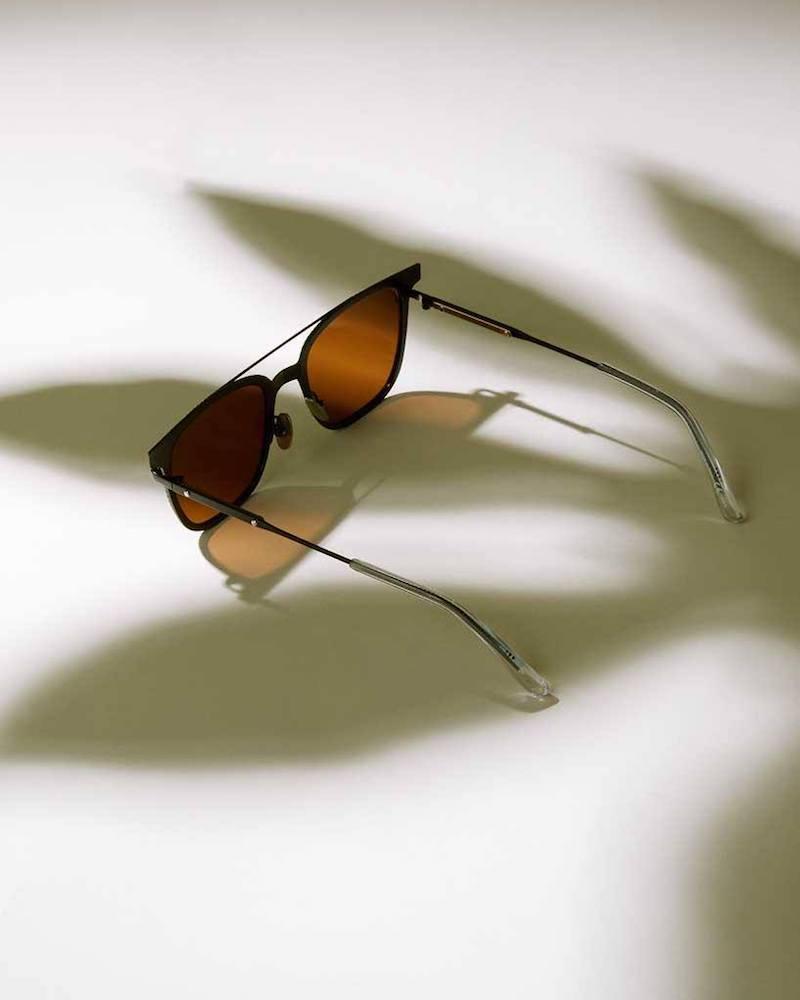 Bottega Veneta Wayfarer Intrecciato-Engraved Metal Sunglasses