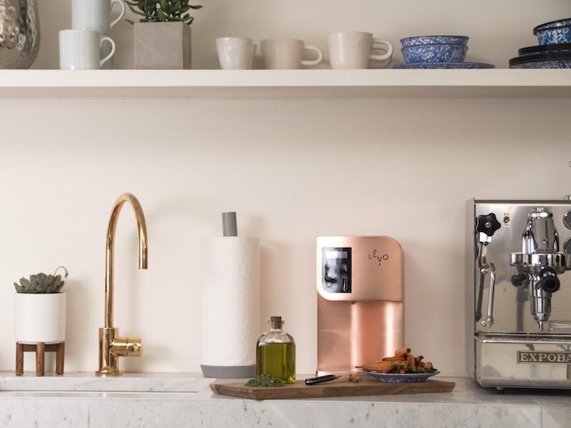 LEVO Oil Infuser Copper in Kitchen