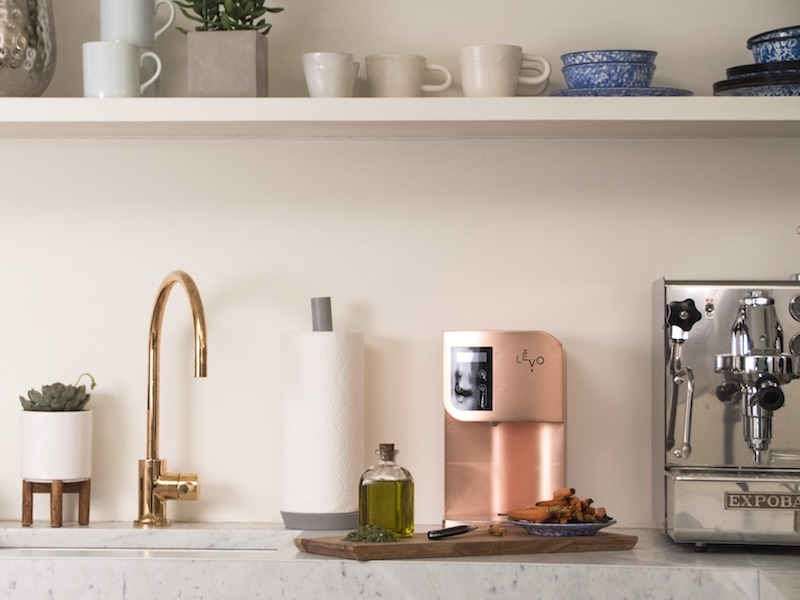 LEVO Oil Infuser Copper in Kitchen