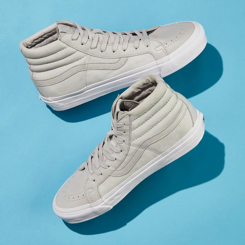 BNY Sole Series x Vans Sk8-Hi Nubuck & Leather Sneakers in Gray