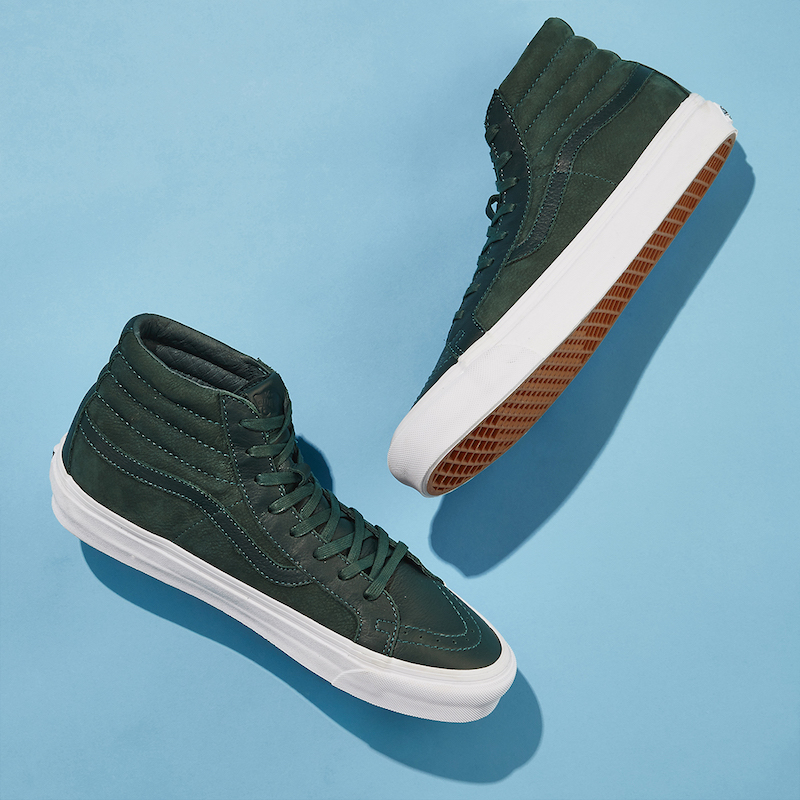 BNY Sole Series x Vans Sk8-Hi Nubuck & Leather Sneakers in Green