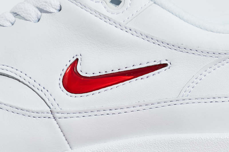 Nike Air Max 1 Premium SC Jewel Swoosh in White Red