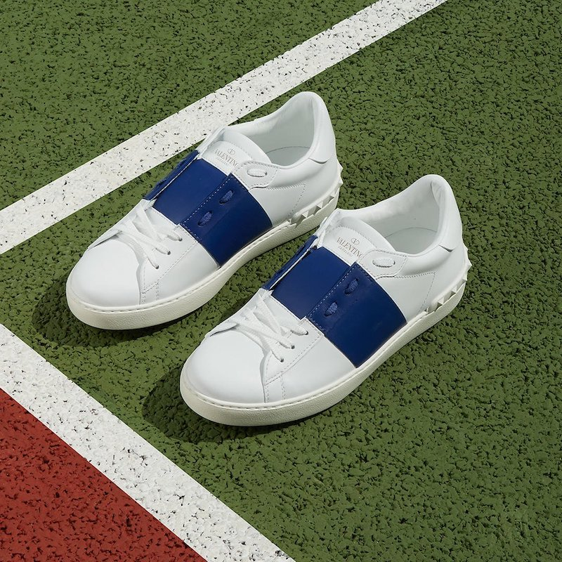 Valentino Open Low-Top Leather Trainers