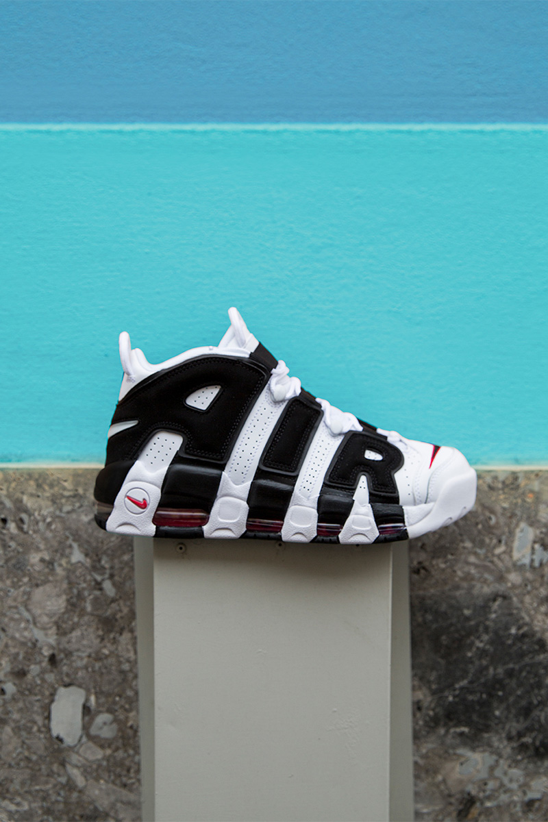 Nike Air More Uptempo Leather Sneakers