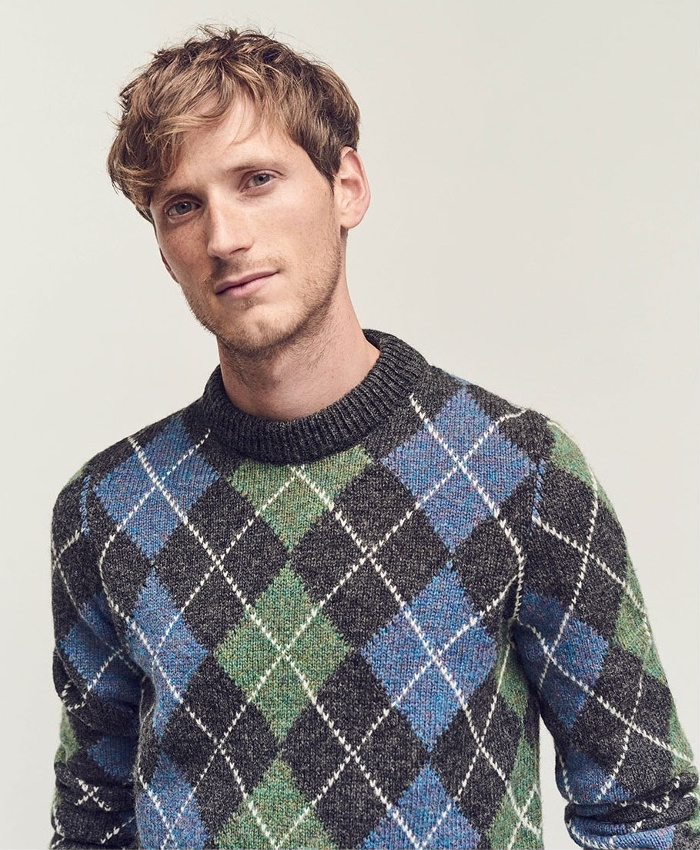Acne Studios Newton Argyle-Knit Sweater