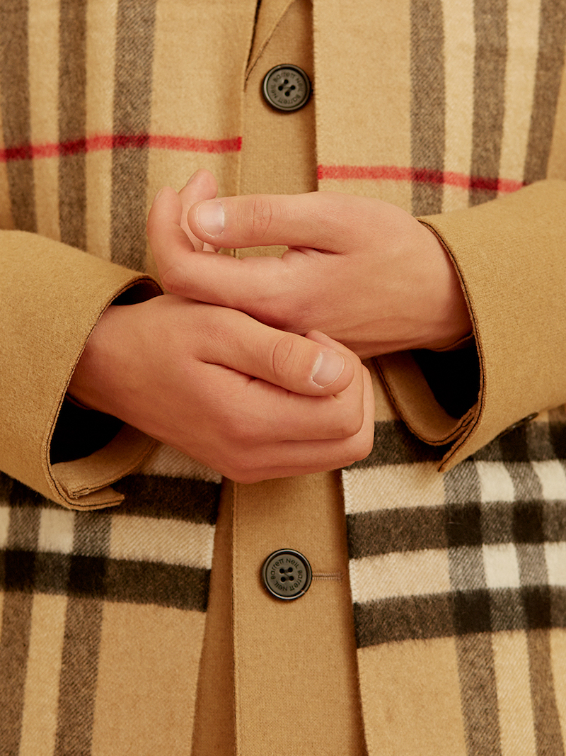 Burberry Check Wool & Cashmere Knit Scarf