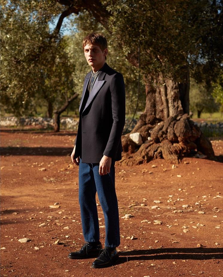 Lanvin Satin-Lapel Wool And Mohair-Blend Tuxedo