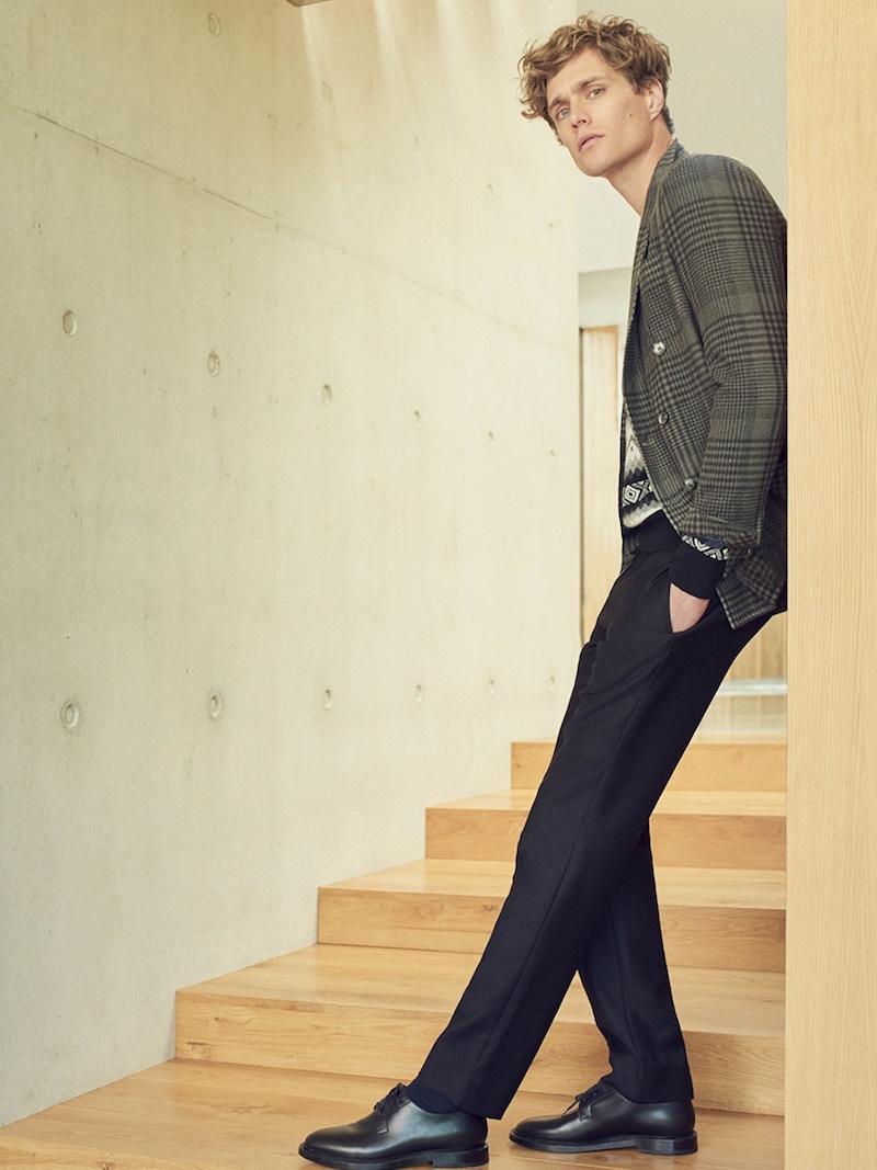 Maison Margiela Drawstring-Waist Mid-Rise Wool Trousers
