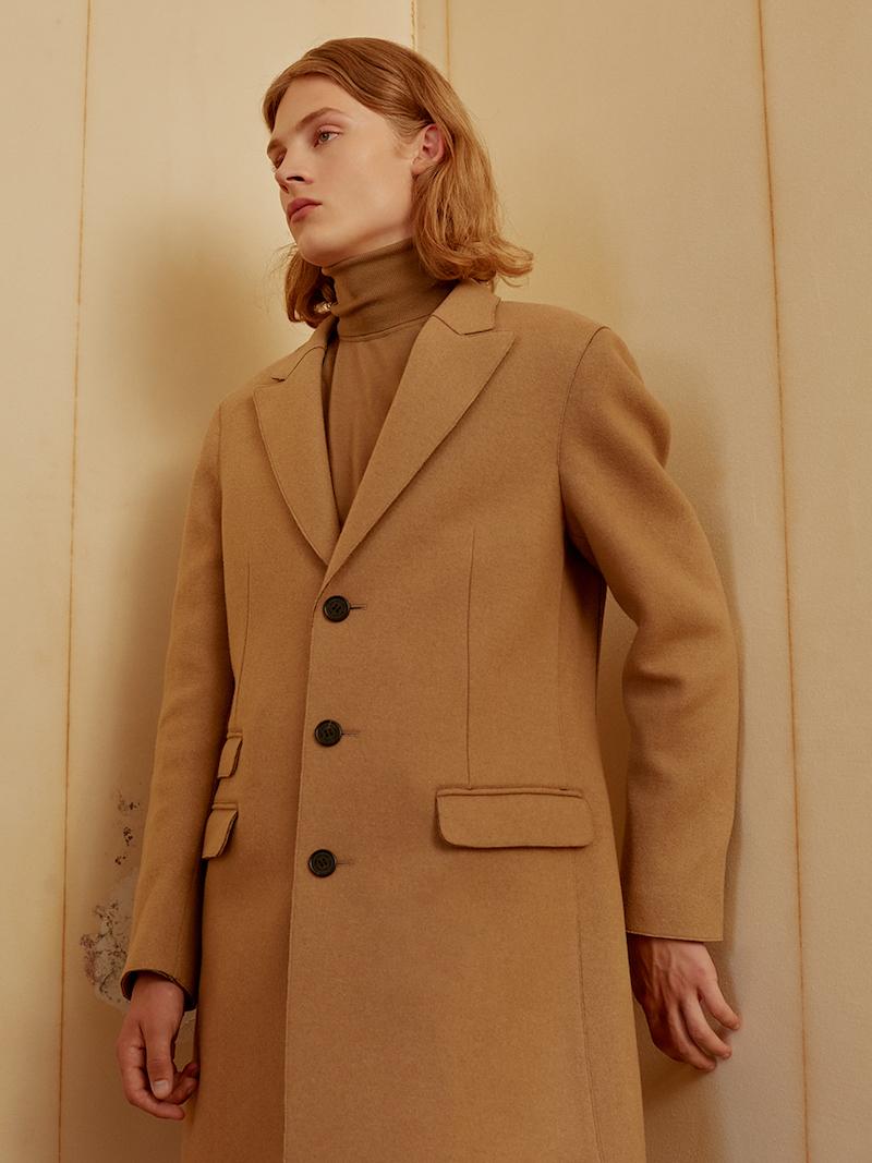 Neil Barrett Wool Cloth Single Breast Skinny Coat