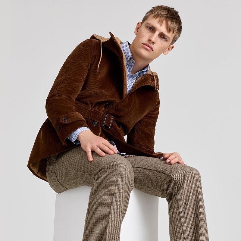 Prada Hooded Corduroy Field Jacket