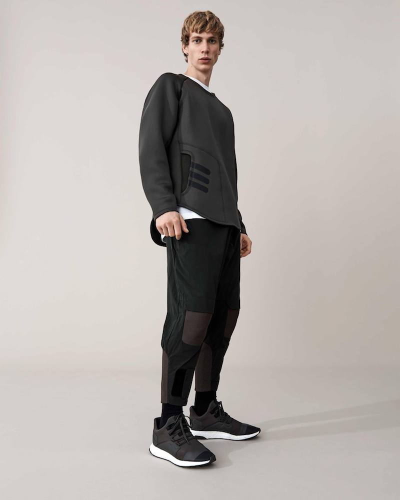 Y-3 Mesh-Panel Neoprene Sweatshirt