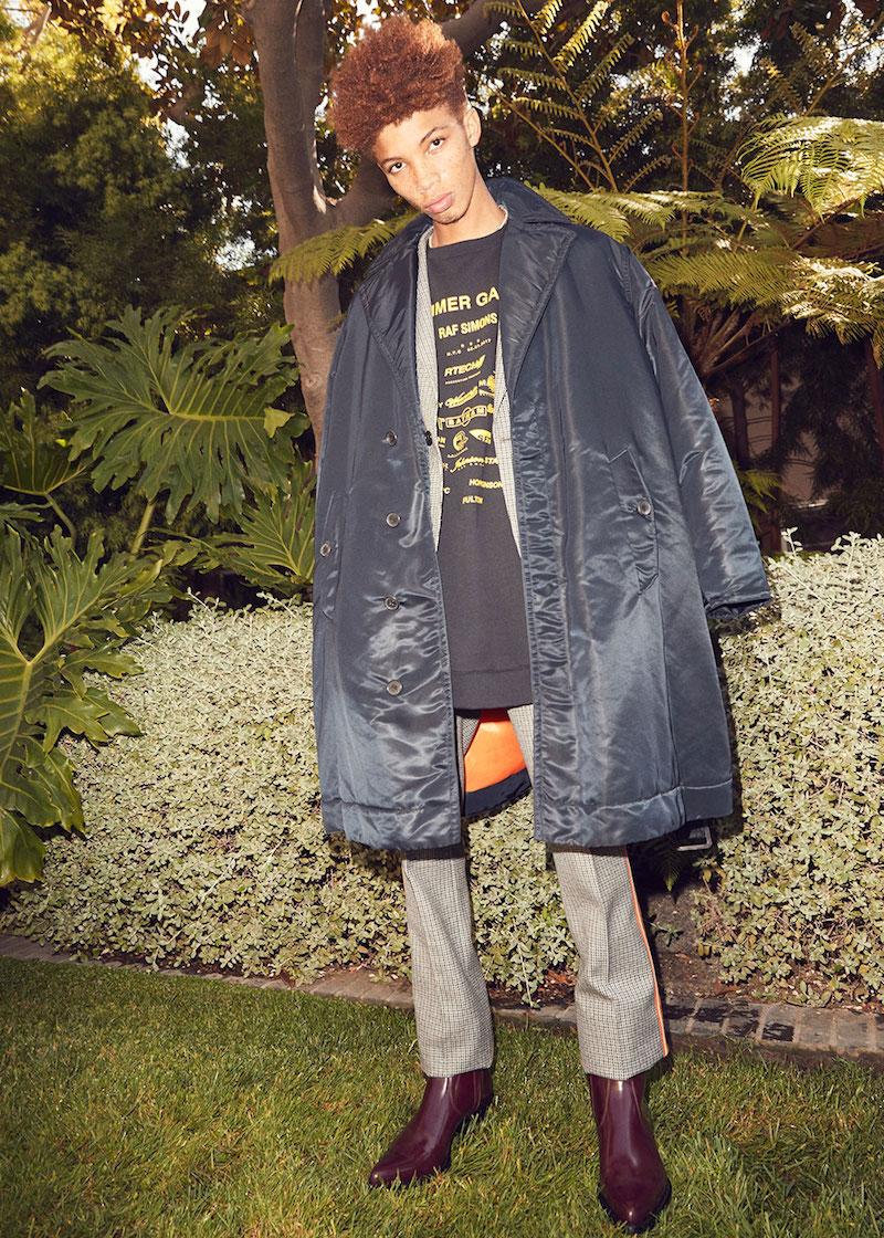 CALVIN KLEIN 205W39NYC Belted Nylon Satin Jacket