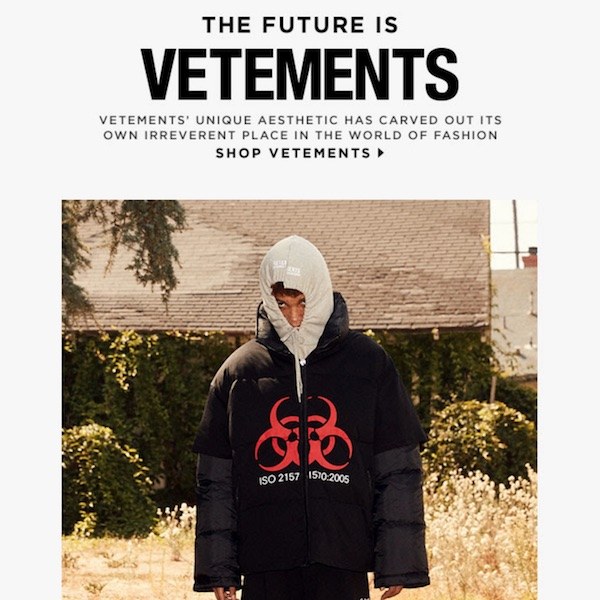 Designer Spotlight: Vetements Fall 2017 Menswear Collection