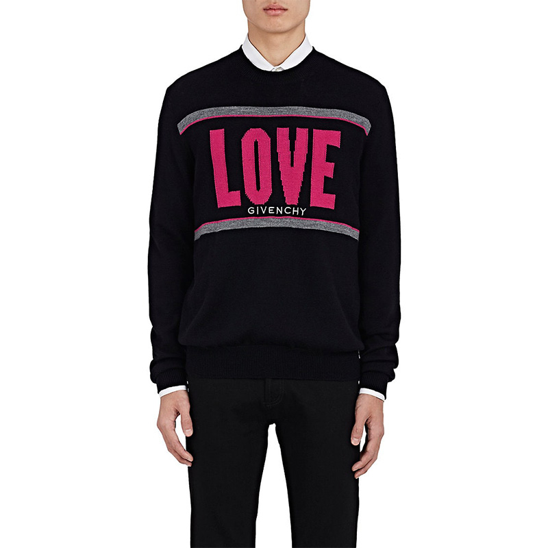 "Givenchy ""Love"" Cotton Sweater"