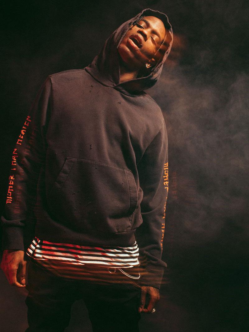 Ksubi x Travis Scott Flaming-Dollar Cotton Hoodie